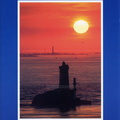 Couchant sur le phare de la Vieille - 1999