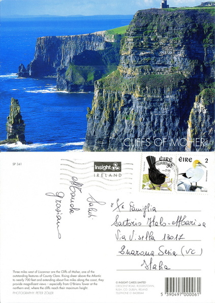 Cliffs of Moher - Photo Peter Zöller - SP 341 Insight Cards Limited, Dublin - Quarona Sesia 1998.jpg