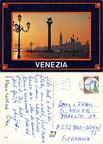 Venezia - Venise - Place St-Marc et le Lion au couchant -1987