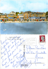 Saint-Cast - La Plage et le Royal Bellevue - 1965
