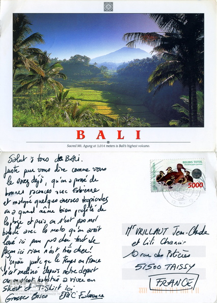Bali - Sacred Mt Agung at 3,014 meters is Bali's highest volcano - Impact Postcards - Photo Luca Invernizzi Tettoni - Vrillaut Chanoir Denpasar Taissy 2000.jpg