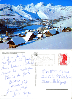 Saint-Sorlin-d'Arves - altitude 1550 - 2250 mètres - 1988