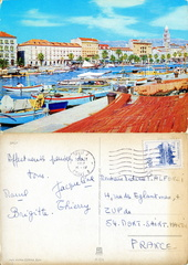 Split - Le port, séchage des filets - 1967
