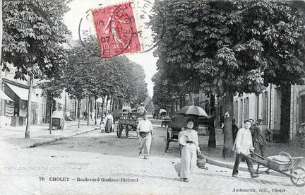 Cholet - Boulevard Gustave-Richard - 1907 - recto