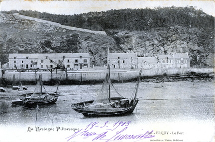 Erquy - Le Port - 1903 - recto