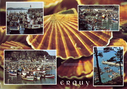 Erquy, capitale de la Coquille St-Jacques - Le Port et la Digue - 1977 - recto